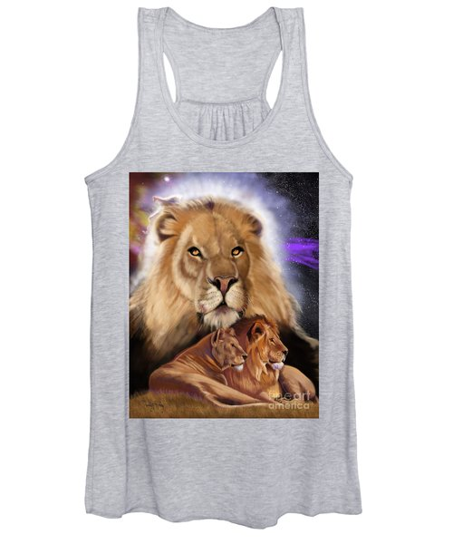 Third In The Big Cat Series - Lion Women's Tank Top