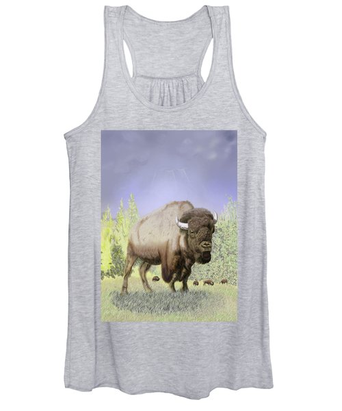 Bison On The Range Women's Tank Top