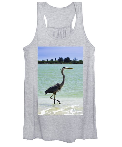 Blue And Green Women's Tank Top