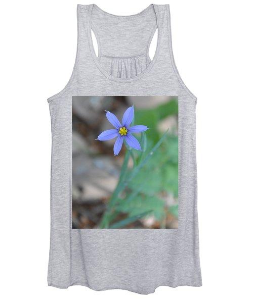 Blue Flower Women's Tank Top