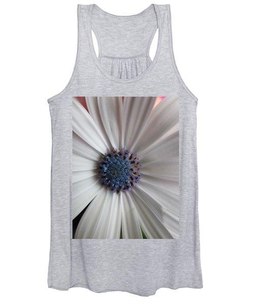 Blue-white Loveliness Women's Tank Top