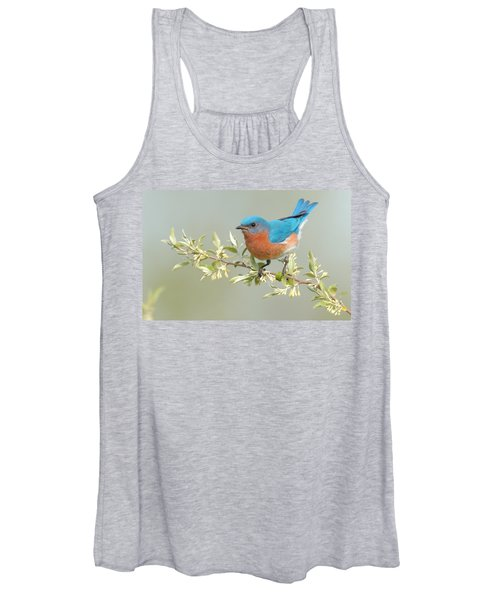 Bluebird Floral Women's Tank Top