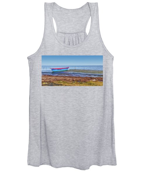 Boat At The Pond Women's Tank Top