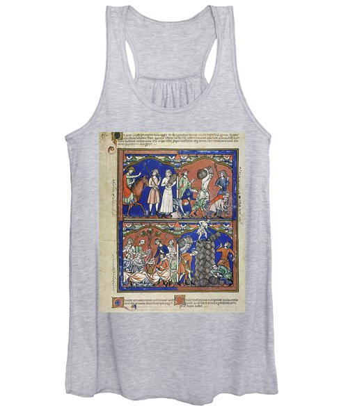 Boaz Sees Ruth Gleaning In His Field Women's Tank Top