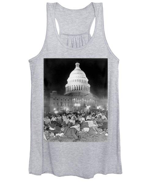 Bonus Army Sleeps At Capitol Women's Tank Top