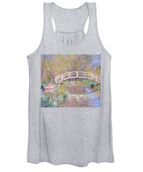 Bridge In Monet's Garden Women's Tank Top