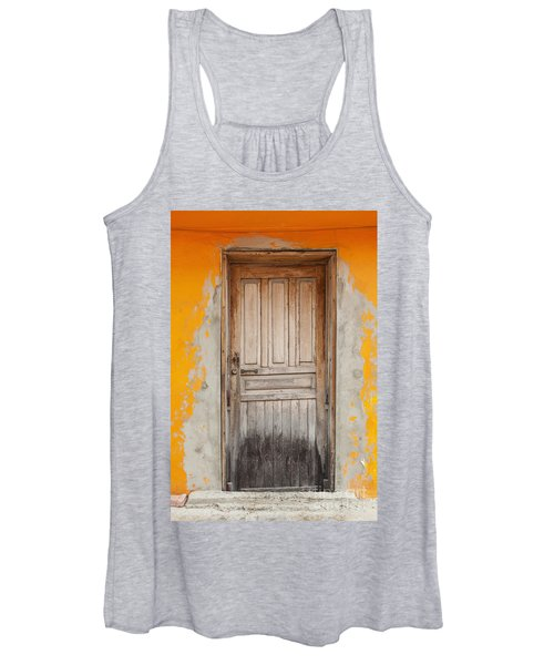 Brightly Colored Door And Wall Women's Tank Top