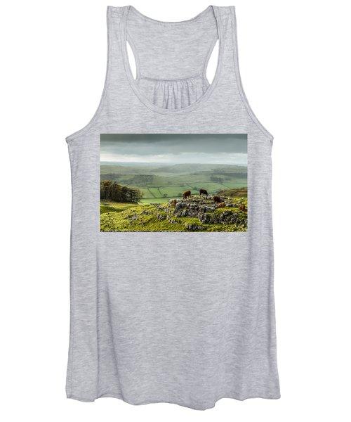 Cattle In The Yorkshire Dales Women's Tank Top