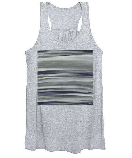 Charcoal And Blue Women's Tank Top