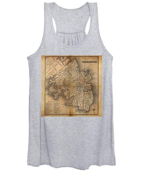 Charleston Vintage Map No. I Women's Tank Top