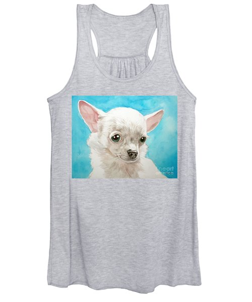 Chihuahua Dog White Women's Tank Top