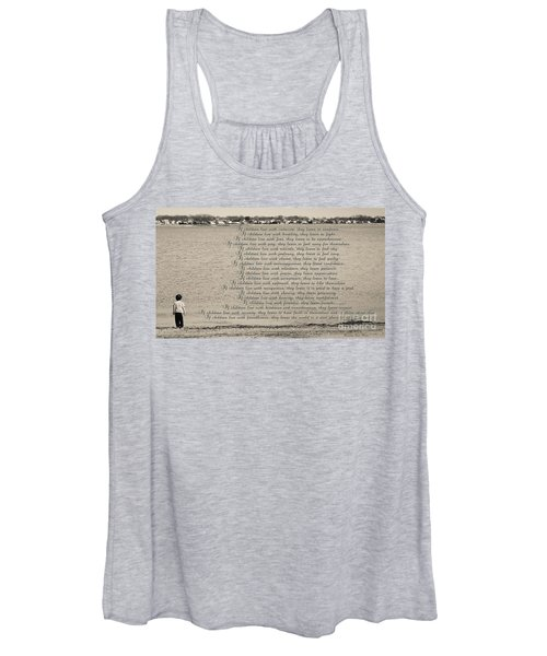 Children Learn What They Live 2 Women's Tank Top
