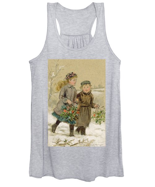 Children Playing In The Snow  Women's Tank Top