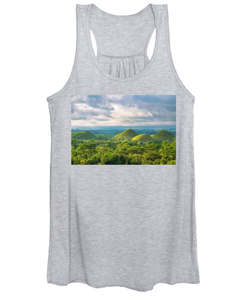Chocolate Hills In Late Afternoon Women's Tank Top