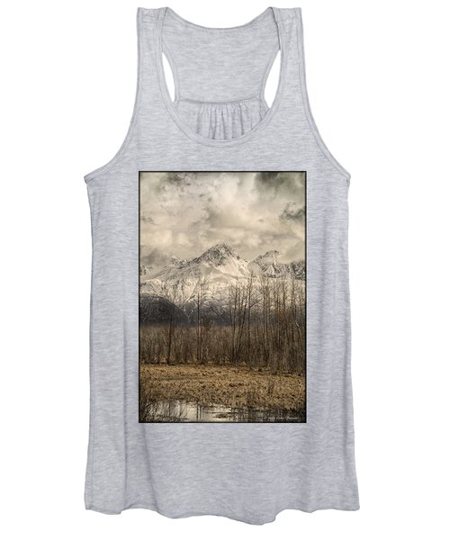 Chugach Mountains In Storm Women's Tank Top