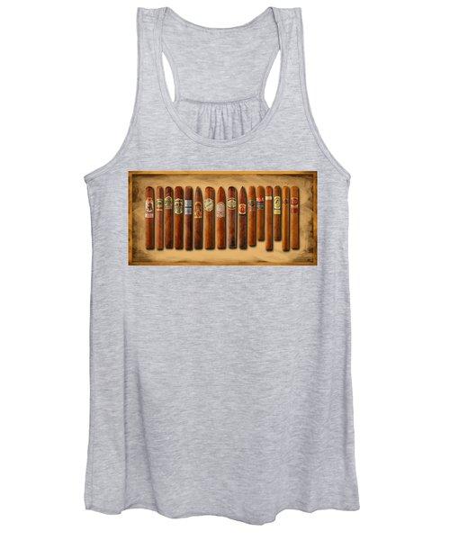 Cigar Sampler Painting Women's Tank Top