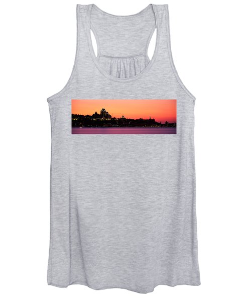 City At Dusk, Chateau Frontenac Hotel Women's Tank Top