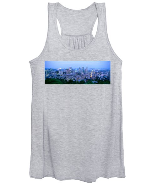 Cityscape At Dusk, Montreal, Quebec Women's Tank Top