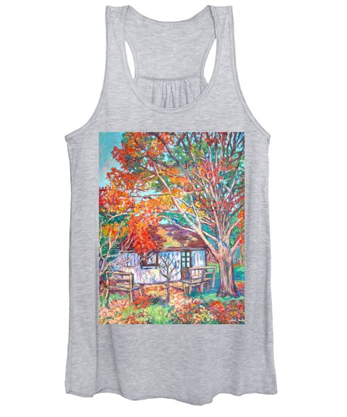 Claytor Lake Cabin In Fall Women's Tank Top