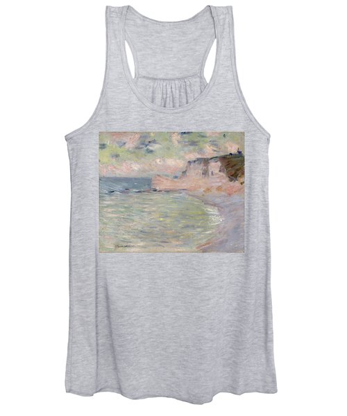 Cliffs And The Porte Damont, Morning Effect, 1885 Oil On Canvas Women's Tank Top