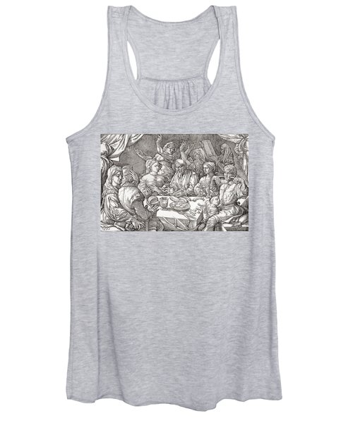 Coarse Behaviour At The Dining Table During The Renaissance Period.  After A Spanish Copper Women's Tank Top