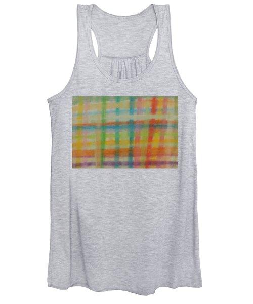 Colorful Plaid Women's Tank Top