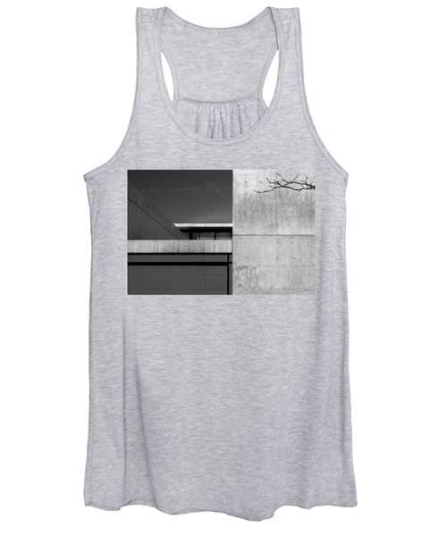 Contemporary Concrete Block Architecture Tree Women's Tank Top
