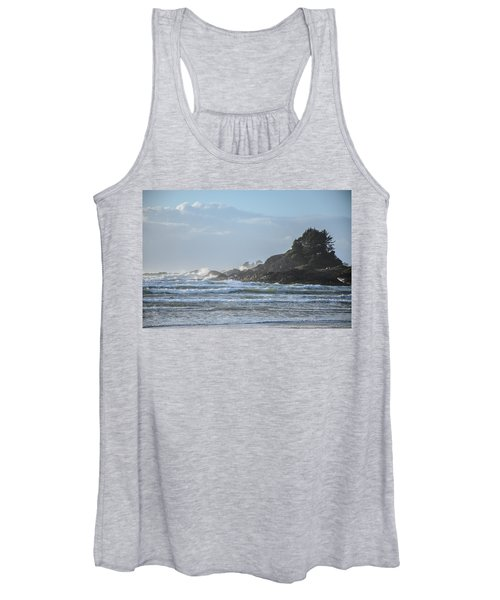 Cox Bay Afternoon Waves Women's Tank Top