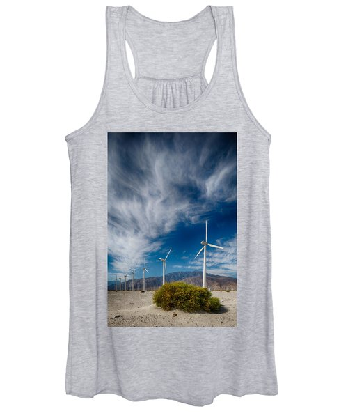 Creosote And Wind Turbines Women's Tank Top