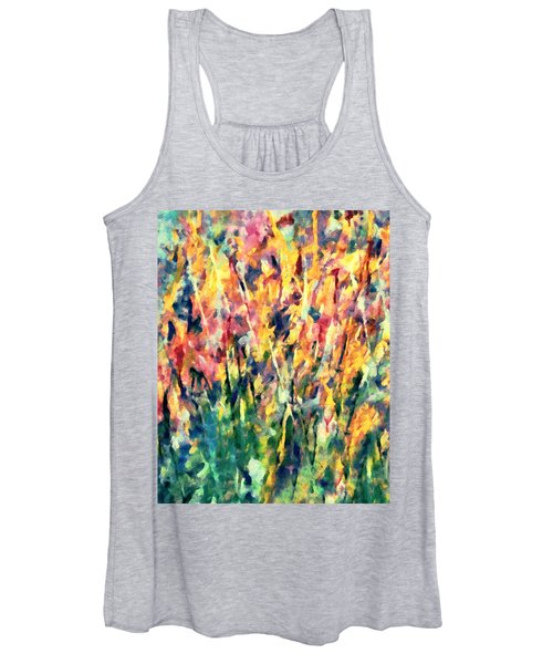 Crescendo Of Spring Abstract Women's Tank Top