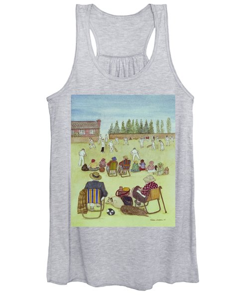Cricket On The Green, 1987 Watercolour On Paper Women's Tank Top