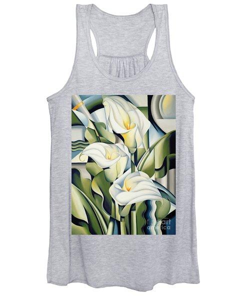 Cubist Lilies Women's Tank Top