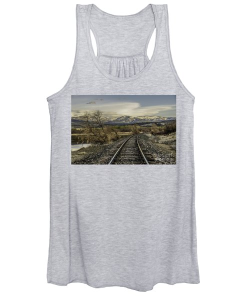 Curve In The Tracks Women's Tank Top