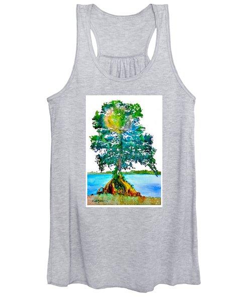 Da107 Cypress Tree Daniel Adams Women's Tank Top