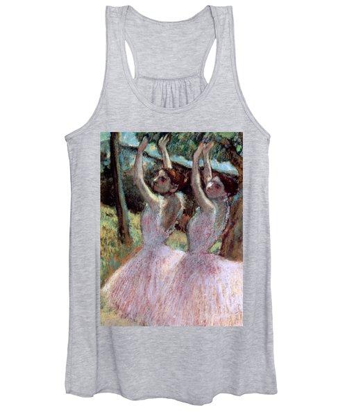 Dancers In Violet Dresses Women's Tank Top