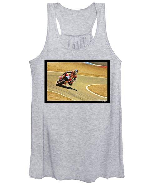 Dani Pedrosa Running Out Of Road Women's Tank Top