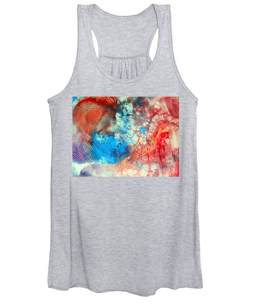 Decalcomaniac Colorfield Abstraction Without Number Women's Tank Top