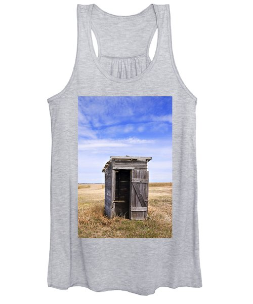 Defunct Outhouse At Rural Elementary School Women's Tank Top