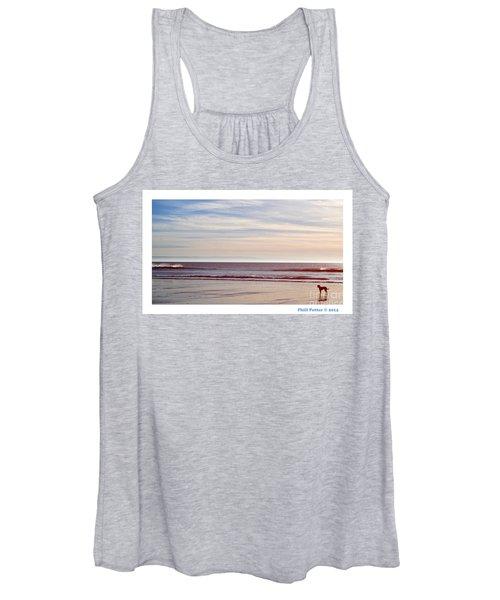 Dog On The Beach Women's Tank Top