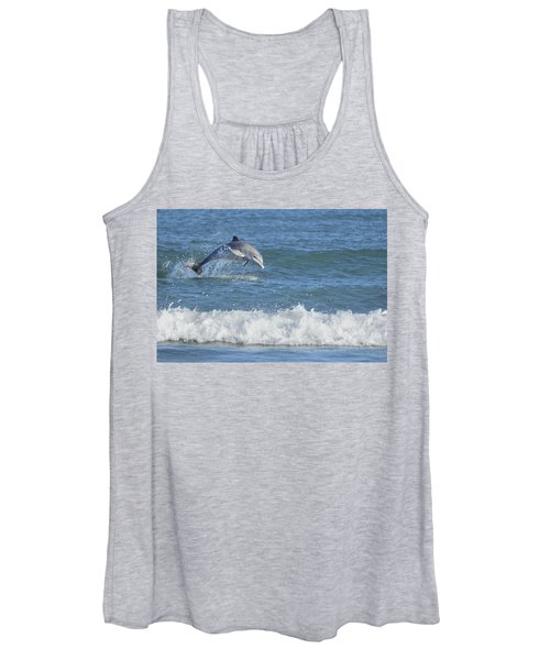 Dolphin In Surf Women's Tank Top