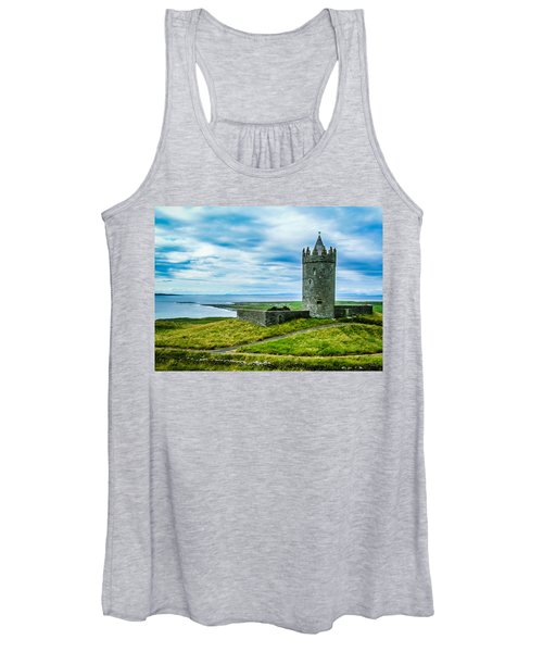 Women's Tank Top featuring the photograph Doonagore Castle In Ireland's County Clare by James Truett