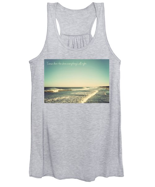 Down The Shore Seaside Heights Vintage Quote Women's Tank Top