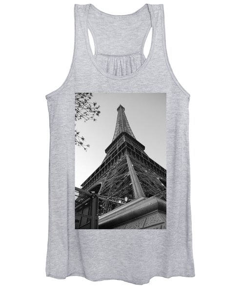 Eiffel Tower In Black And White Women's Tank Top