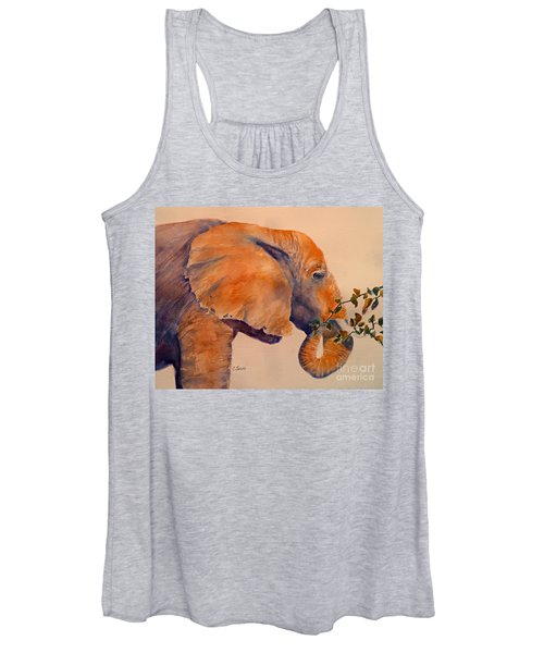 Elephant Eating Women's Tank Top