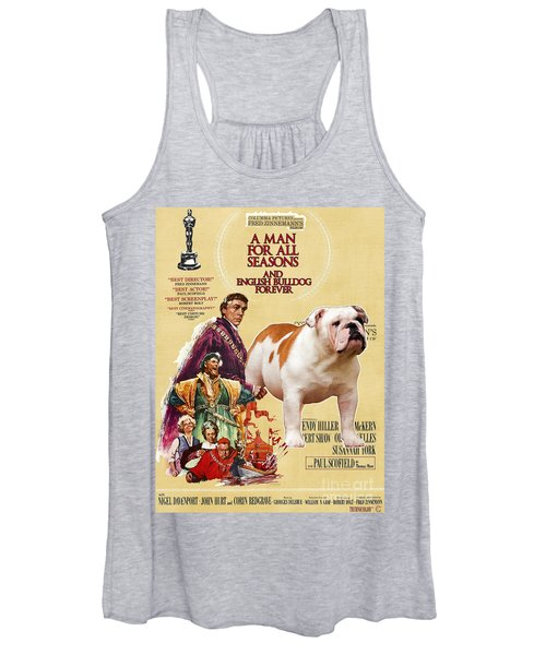 English Bulldog Art Canvas Print - A Man For All Seasons Movie Poster Women's Tank Top