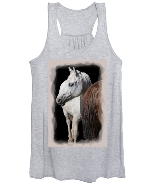 Equine Horse Head And Tail Women's Tank Top