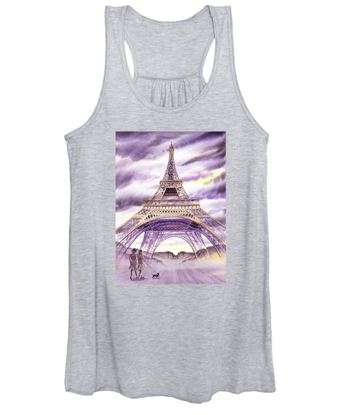 Evening In Paris A Walk To The Eiffel Tower Women's Tank Top