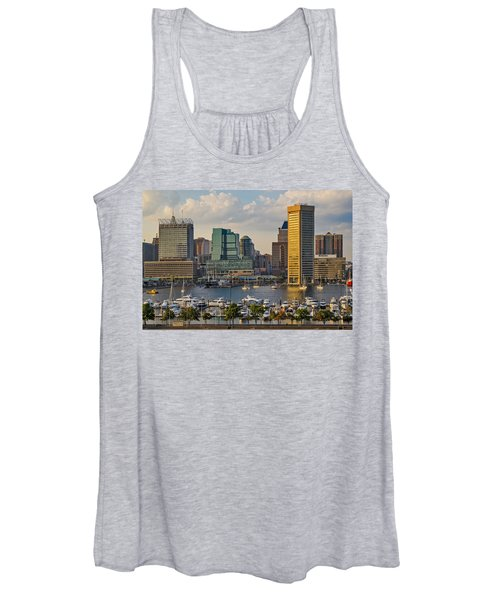 Federal Hill View To The Baltimore Skyline Women's Tank Top