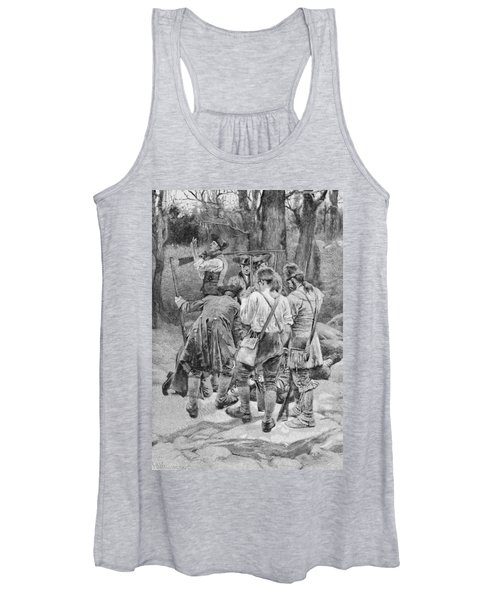 Finding The Body Of One Of Their Companions, Scalped And Horribly Mangled, Engraved By F.h Women's Tank Top