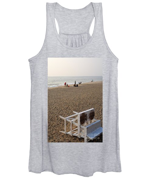 First On The Beach At Bethany Beach In Delaware Women's Tank Top